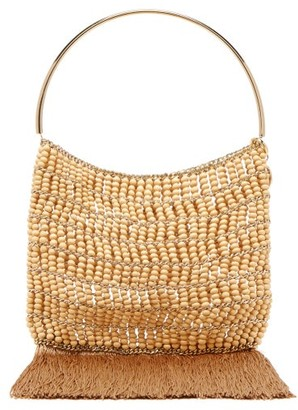Rosantica Georgina Beaded Fringe-trimmed Bag - Womens - Brown Multi