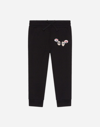 Dolce & Gabbana Jersey Jogging Pants With Family Amore
