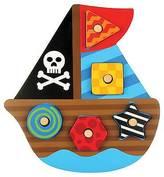 Stephen Joseph Shaped Wooden Peg Puzzle - Pirate Ship