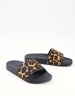 AllSaints Mistley slides in leopard