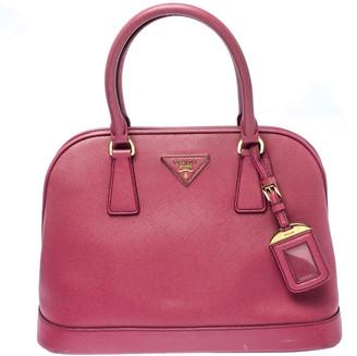 Prada Coral Pink Saffiano Leather Open Promenade Satchel