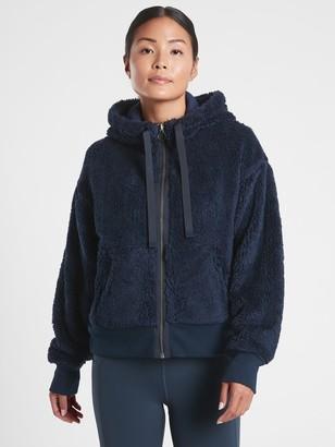 Athleta Cozy Sherpa Reversible Jacket