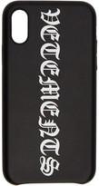 Vetements Black Vertical Logo iPhone XS Max Case