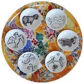 Bernardaud Marc Chagall Joseph Tribe Seder Platter & Dishes, Set of 6