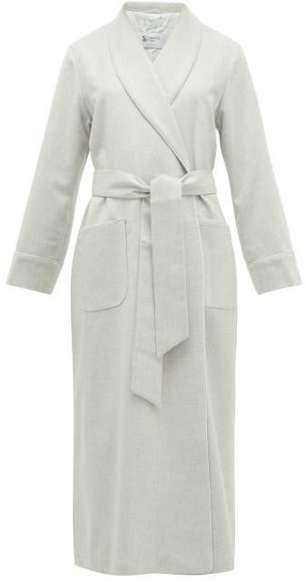 Johnstons of Elgin Johnston's Of Elgin - Cashmere Dressing Gown - Light Grey
