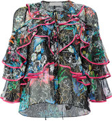 Peter Pilotto ruffled tie neck blouse - women - Silk - 8