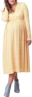 Nom Maternity Augusta Print Long Sleeve Maternity/Nursing Dress