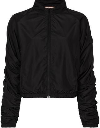 Fantabody Ruched-Sleeve Zipped Jacket