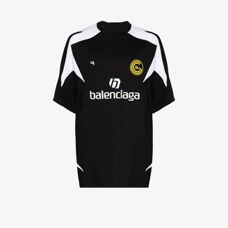 Balenciaga logo print soccer T-shirt