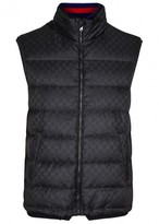 Gucci Gg Navy Quilted Shell Gilet