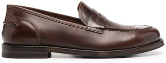 Alberto Fasciani Penny-Slot Leather Loafers