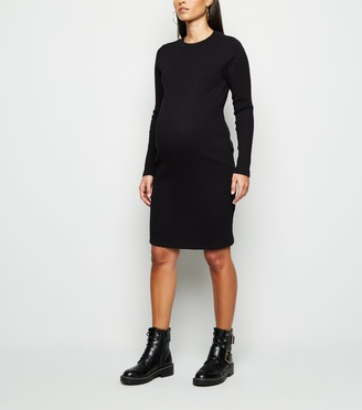 New Look Maternity Ribbed Bodycon Dress