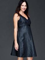 Gap Chambray double V-neck sleeveless dress