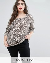 Asos Soft Sweater In Leopard Print