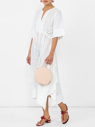 Bamford drawstring dress white