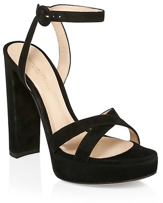 Gianvito Rossi Platform Ankle-Strap Sandals
