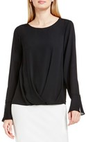 Vince Camuto Women's Bell Cuff Fold Front Blouse