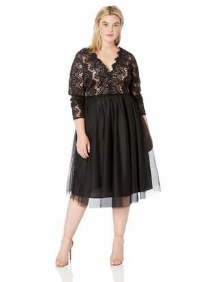 City Chic Women's Apparel Women's Plus Size Dress Rare Beauty