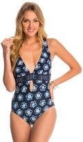 Michael Kors Swimwear Kanoko Plunge One Piece Swimsuit 8142786