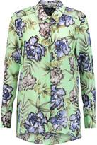 Alice + Olivia Aravi floral-print silk-chiffon blouse
