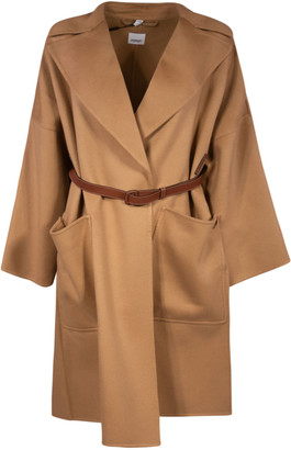 Burberry Belted Loose Fit Coat