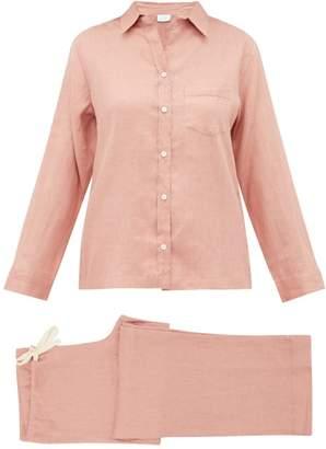 Pour Les Femmes - Linen Pyjamas - Womens - Pink