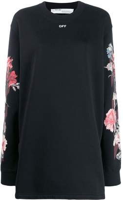 Off-White rose print sweater dress