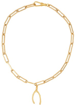 Alighieri The Past Follies 24kt gold-plated necklace
