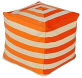 """Surya Celene Stripes Cube Pouf 18"""" x 18"""""""