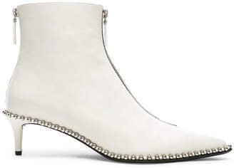 Alexander Wang Leather Eri Low Boots in White | FWRD