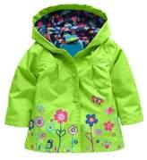 Arshiner Little Girls' Waterproof Hooded Coat Jacket Outwear Raincoat,Size 100