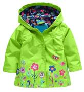 Arshiner Little Girls' Waterproof Hooded Coat Jacket Outwear Raincoat,Size 110