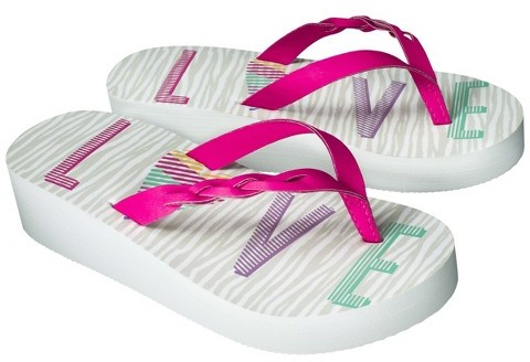 Circo Girl's Hyla Wedge Flip Flop Sandals - Assorted Colors