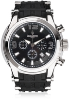 Lancaster Bongo Chrono Men's Silver Stainless Steel Watch w/ Black Rubber Strap