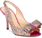 Kate Spade Charm Multicolor Glitter Open-Toe Pumps