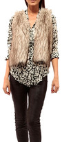 Johanne Beck - Johanne Beck Faux Fur Vest Silver Fox With Black Lining