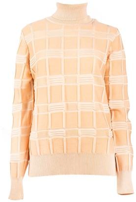 Woolish Mina High Neck Merino Sweater Peach
