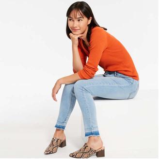Joe Fresh Women's Classic Slim-Fit Jeans, Bright Blue (Size 27)