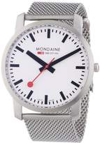 Mondaine Unisex A6383035016SBM Simply Elegant Silver-Tone Stainless Steel Watch