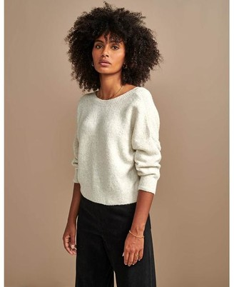 Bellerose Adine V Neck Pullover M Ilky Way - XS