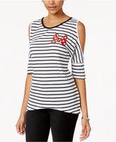 Disney Juniors' Minnie Mouse Cold-Shoulder Graphic T-Shirt