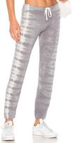 Monrow Fishbone Tie Dye Sweatpants in Black. - size L (also in M,S,XS)