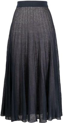 Agnona Fine-Knit Midi Skirt