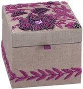 Lennon & Maisy Tapestry Jewelry Box, Small, Purple
