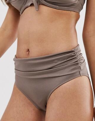 Pour Moi? Pour Moi fold over bikini bottom in pewter