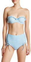 Betsey Johnson Gingham Ruffle Bandeau Top