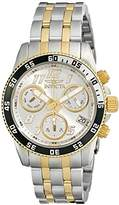 Invicta Women's Pro Diver Quartz Watch with Silver Dial Chronograph Display and Silver Stainless Steel Bracelet 15509
