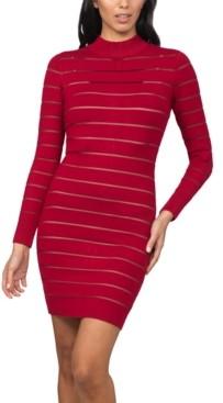 Bebe Juniors' Shutter-Style Sweater Dress
