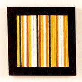 Warm Stripe Wood Wall Plaque