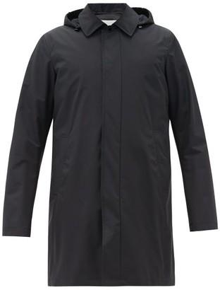 Herno Hooded Wool-blend Raincoat - Navy